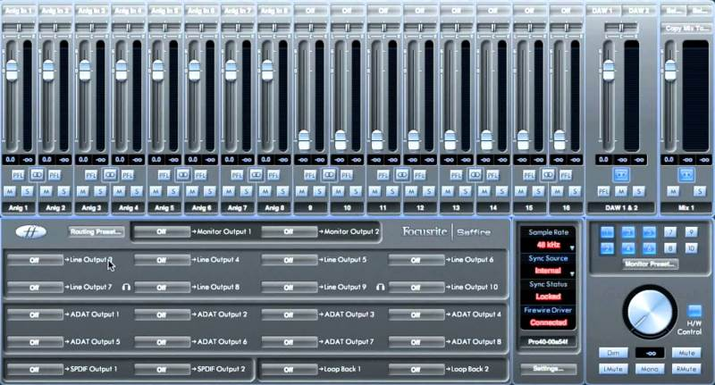 Focusrite Scarlett MixControl Software