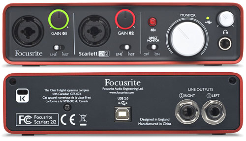 Focusrite Scarlett 2i2 USB Audio Adapter