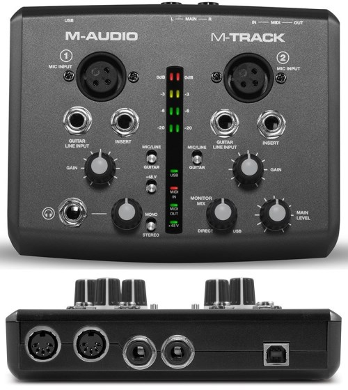 M-Track - Two Channel USB Audio/MIDI Interface