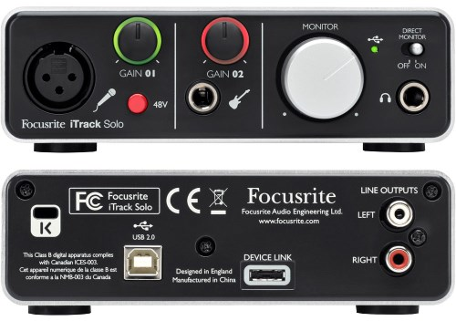 Focusrite iTrack Solo Report USB Audio Adapter
