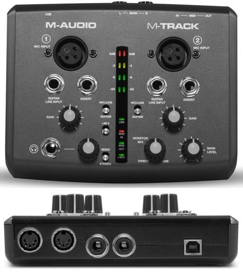 M-Track - Two Channel USB Audio/MIDI Interface